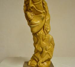 Sculpture en argile proposée pour le tirage en bronze à la cire perdue