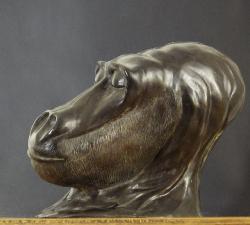 mauzat marc                                 titre n°133 go2  b5                      année 2014  bronze patiné         h 21 cm. l 18 cm. pr26 cm (1)_web